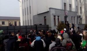 Блокада ворот части внутренних войск